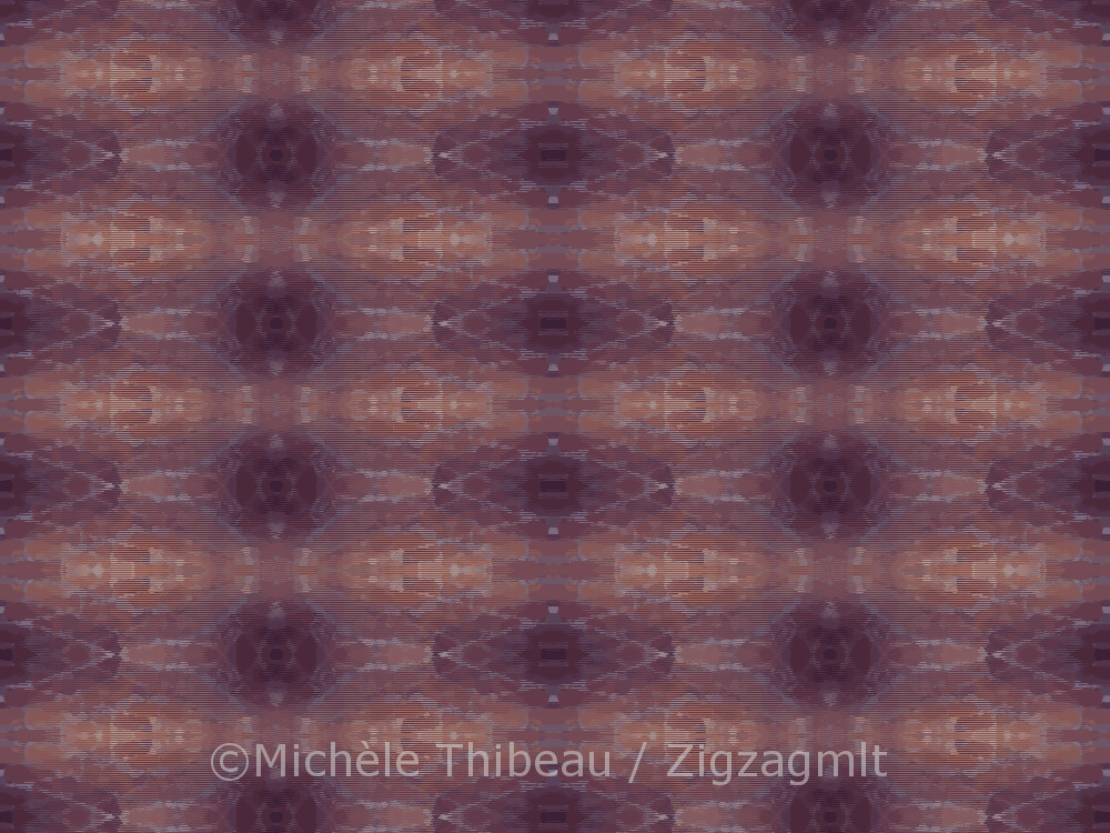 Another in the series of repeat patterns inspired by a photo of a brick wall in an historic Quebec City museum.