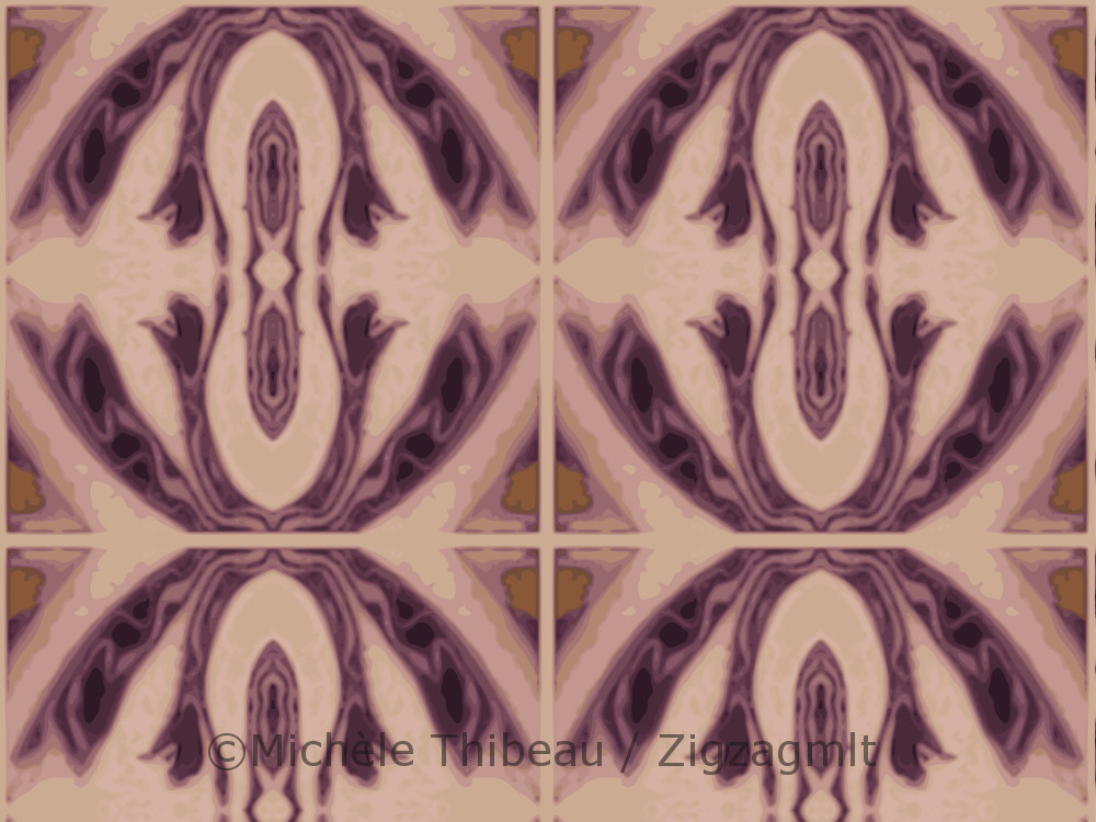 Part of a collection of designs inspired by a photo of purple cabbage with its stunning variegated stripes and swirls.