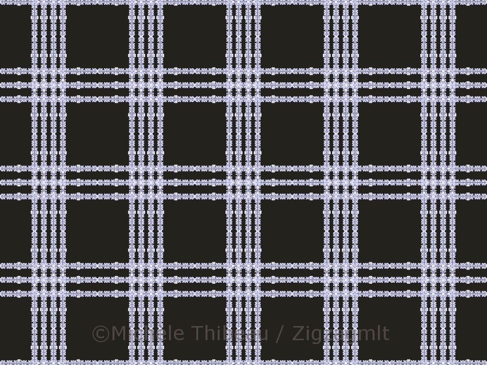These stripes were developed from a screen capture of a system defragging. Could not resist a linear defrag plaid.