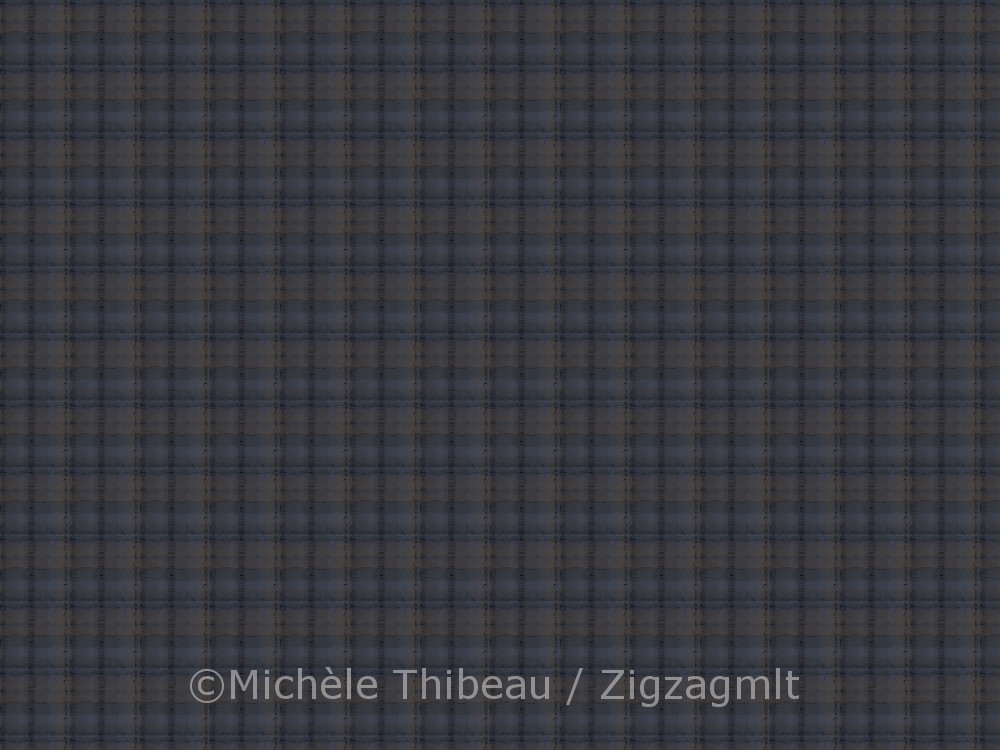 There was no resisting trying my hand at a plaid with this one. Small scale with bluish purples, black and beige.