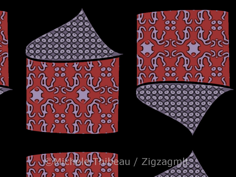 Main House Red Purple repeat pattern